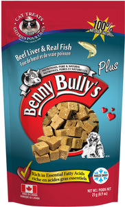 BENNY BULLYS PLUS FISH CAT TREAT 25G