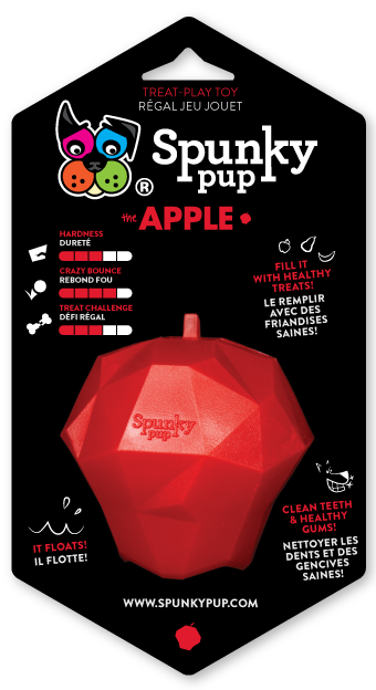 SPUNKY PUP TREAT HOLDING APPLE TOY
