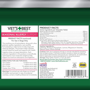 VETS BEST SEASONAL ALLERGY RELIEF 60TAB