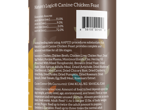 NATURES LOGIC CHICKEN DOG CAN 13.2OZ