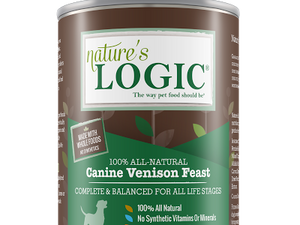 NATURES LOGIC VENISON DOG CAN 13.2OZ