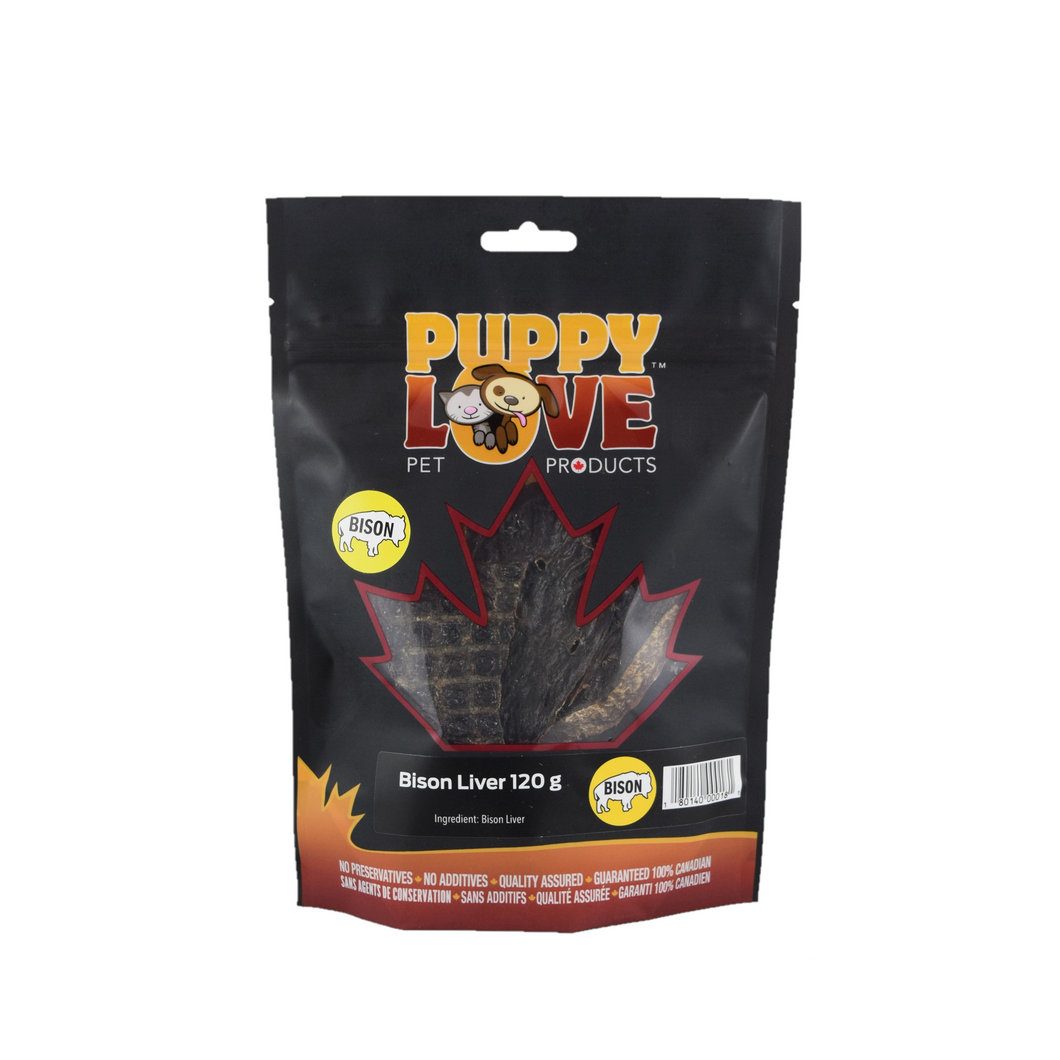 PUPPY LOVE BISON LIVER 120G