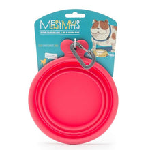 Load image into Gallery viewer, MESSY MUTTS SILICONE COLLAPSIBLE BOWL RED SM