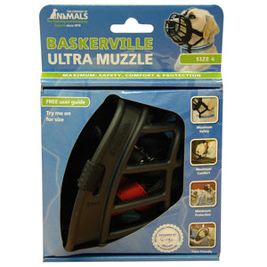 BASKERVILLE ULTRA MUZZLE BLACK SIZE 4