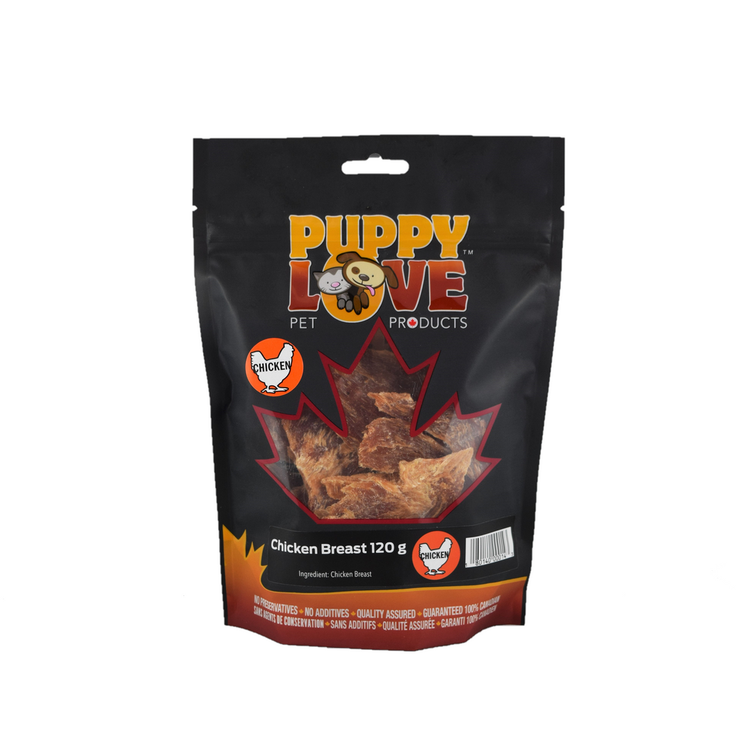 PUPPY LOVE CHICKEN BREAST 120G