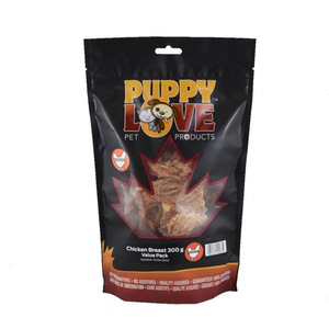 PUPPY LOVE CHICKEN BREAST VALUE PACK 300G