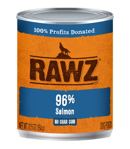 RAWZ 96% SALMON DOG CAN 354G