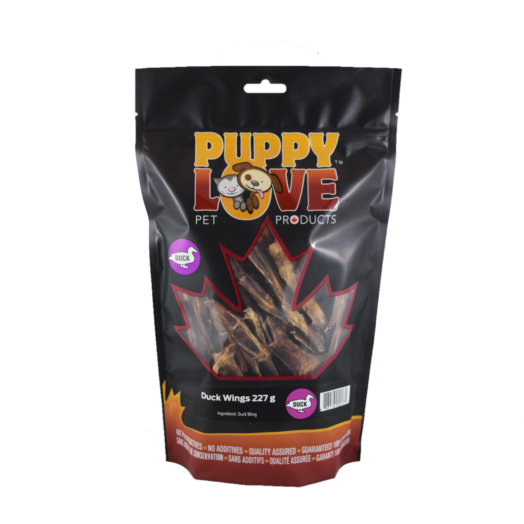 PUPPY LOVE DUCK WINGS 227G