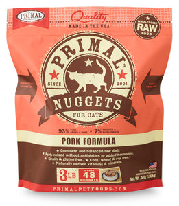 PRIMAL PORK NUGGETS CAT 3LB