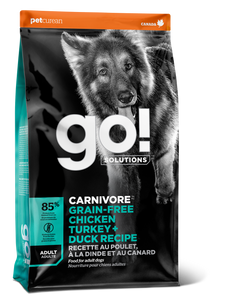 GO DOG CARNIVORE GRAIN FREE CHICKEN/TURKEY/DUCK 22LB