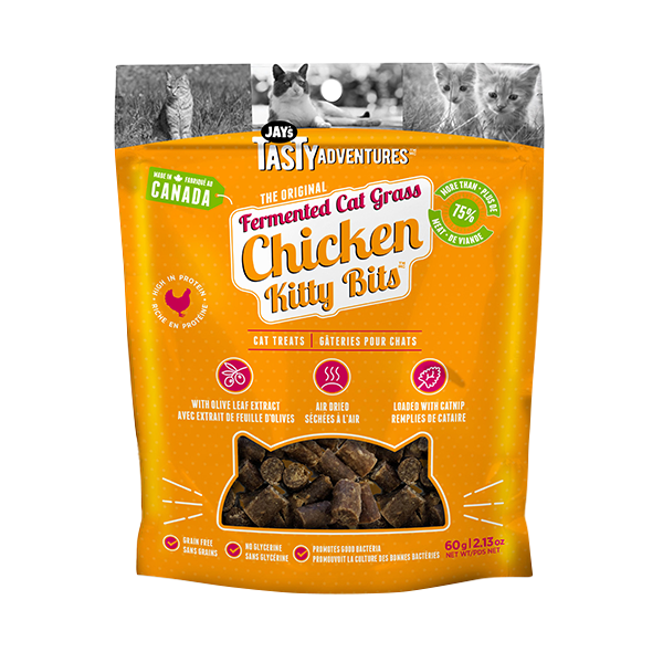 JAY'S TASTY ADVENTURES CAT GRASS CHICKEN TREAT 60G