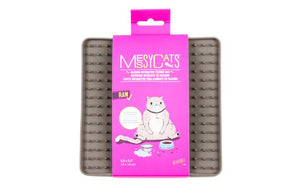 MESSY MUTTS INTERACTIVE REVERSIBLE FEEDING MAT GREY