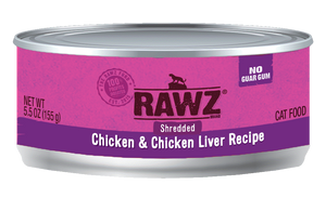 RAWZ CHICKEN/LIVER SHREDDED CAT CAN 156G