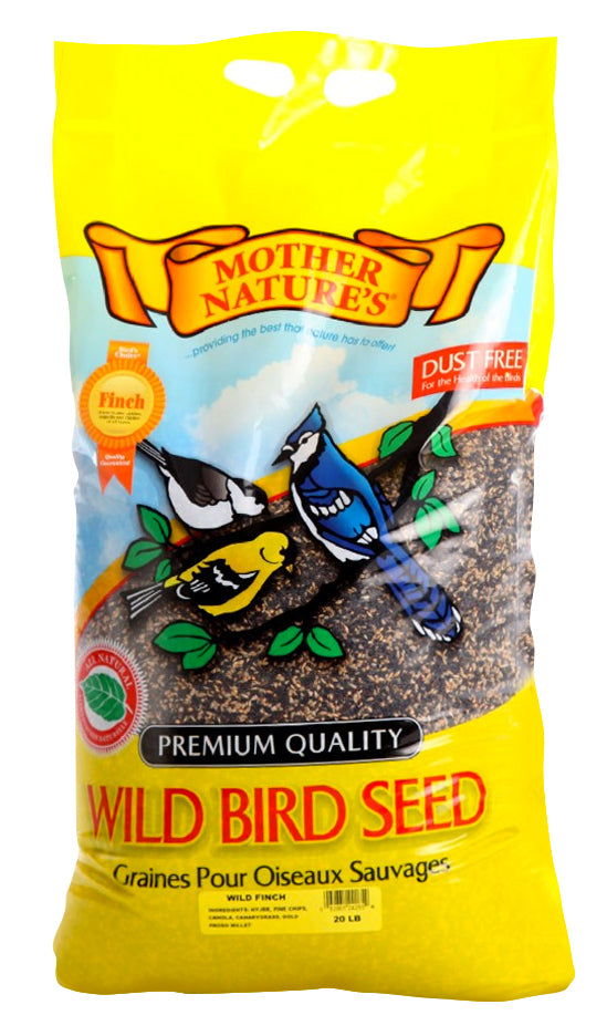 MOTHER NATURE'S WILD FINCH SEED MIX 20LB