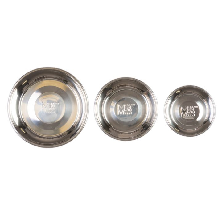 MESSY MUTTS STAINLESS STEEL RAW BOWL XLG