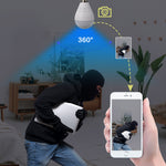 Hidden Grow Room Security LED Light E27 Bulb Light - Night Vision Fisheye Cam 360 Degree