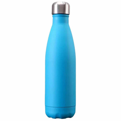 Bouteille isotherme en inox bleu turquoise mat