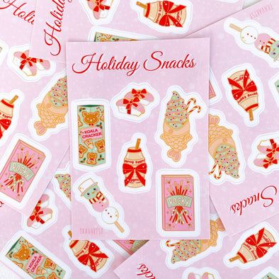Holiday Japanese Snacks - Sticker Sheet