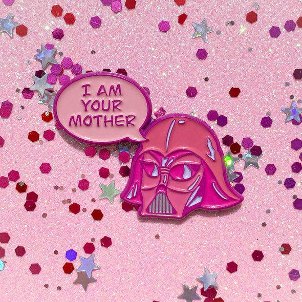 Darth Mother Enamel Pin - Travartsy
