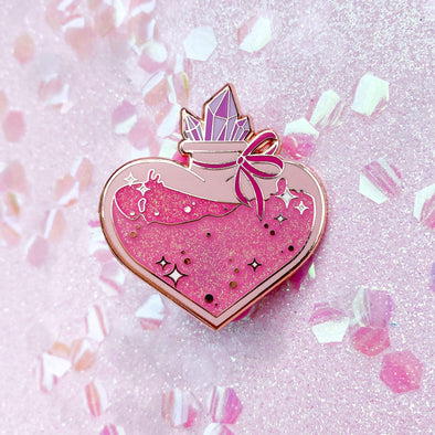 Love Potion Enamel Pin - Travartsy