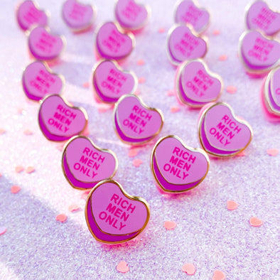Purple Bitter Sweetheart Enamel Pin - Travartsy