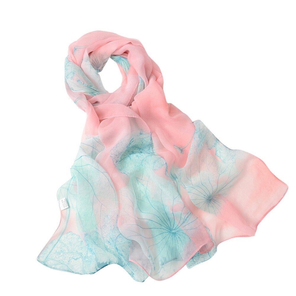 Lotus Soft Wrap Scarf - Pink & Teal - Gifti | Gifts they will love