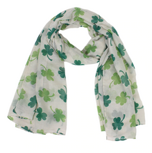 Load image into Gallery viewer, Four Leaf Clover Wrap Scarf - St Patricks Day - Gifti | Gifts they will love