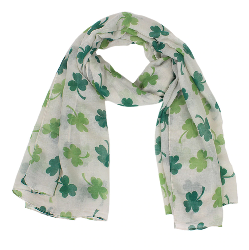 Four Leaf Clover Wrap Scarf - St Patricks Day - Gifti | Gifts they will love