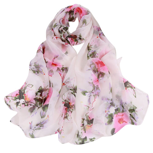 Peach Blossom Soft Wrap Scarf - Pink & White - Gifti | Gifts they will love