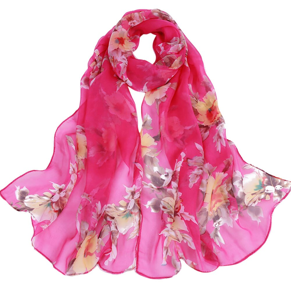 Peach Blossom Soft Wrap Scarf - Magenta - Gifti | Gifts they will love