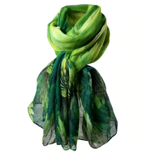 Load image into Gallery viewer, Spring Forest Soft Wrap Scarf - Green - Gifti | Gifts they will love