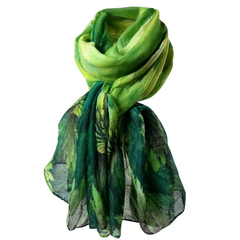 Spring Forest Soft Wrap Scarf - Green