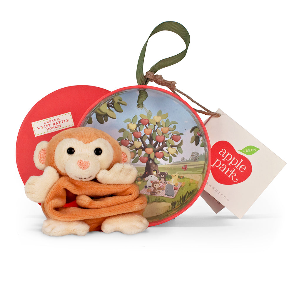 Monkey Wrist Rattle - Apple Park - Gifti | Gifts they will love