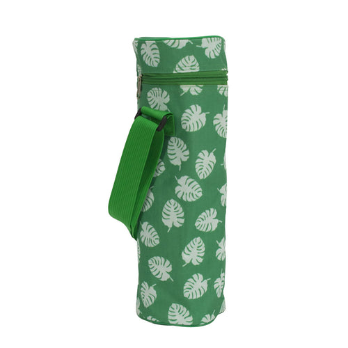 Picnic Bottle Bag - Green Leaves - Gifti | Gifts they will love