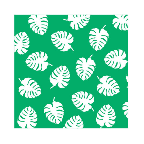 Beach Throw or Picnic Rug - Green Leaves - Gifti | Gifts they will love