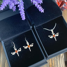 Load image into Gallery viewer, Amber Dragonfly Earrings 925 Silver - Gift idea for Her - Gifti | Gifts they will love