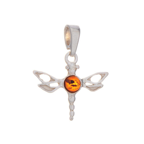 Amber Dragonfly Pendant & Necklace 925 Silver - Gift Idea for Her - Gifti | Gifts they will love