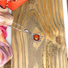 Load image into Gallery viewer, Amber Sun Pendant and Necklace - 925 Silver - Gifti | Gifts they will love