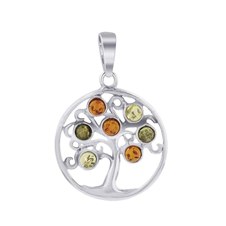 Amber Tree of Life Pendant & Necklace - 925 Silver - Gifti | Gifts they will love