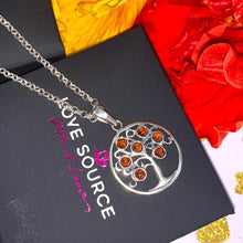 Load image into Gallery viewer, Amber Tree of Life Pendant & Necklace - 925 Silver - Gifti | Gifts they will love