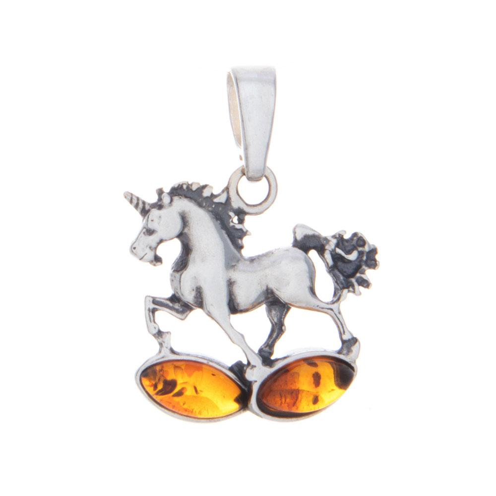 Amber Unicorn Pendant with Necklace - 925 Silver - Gifti | Gifts they will love