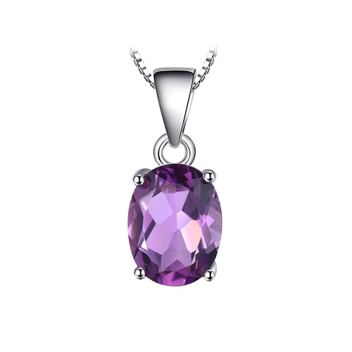 Amethyst Oval Cut Pendant & Necklace - Gift Ideas for Her - Gifti | Gifts they will love