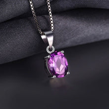 Load image into Gallery viewer, Amethyst Oval Cut Pendant & Necklace - Gift Ideas for Her - Gifti | Gifts they will love