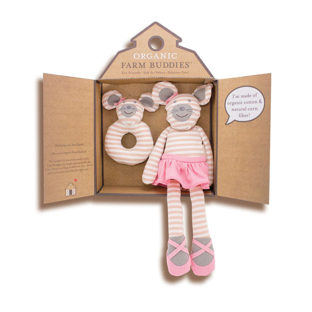 Ballerina Mouse Organic Farm Buddy Gift Set - Gifti | Gifts they will love
