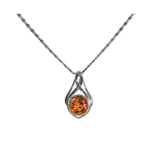 Baltic Amber Pendant and Necklace - 925 Silver - Gifti | Gifts they will love
