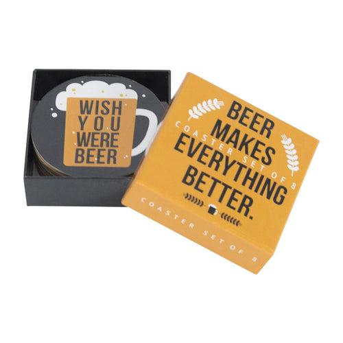 Beer makes Everything Better Drink Coaster Set (8) - Gifti | Gifts they will love