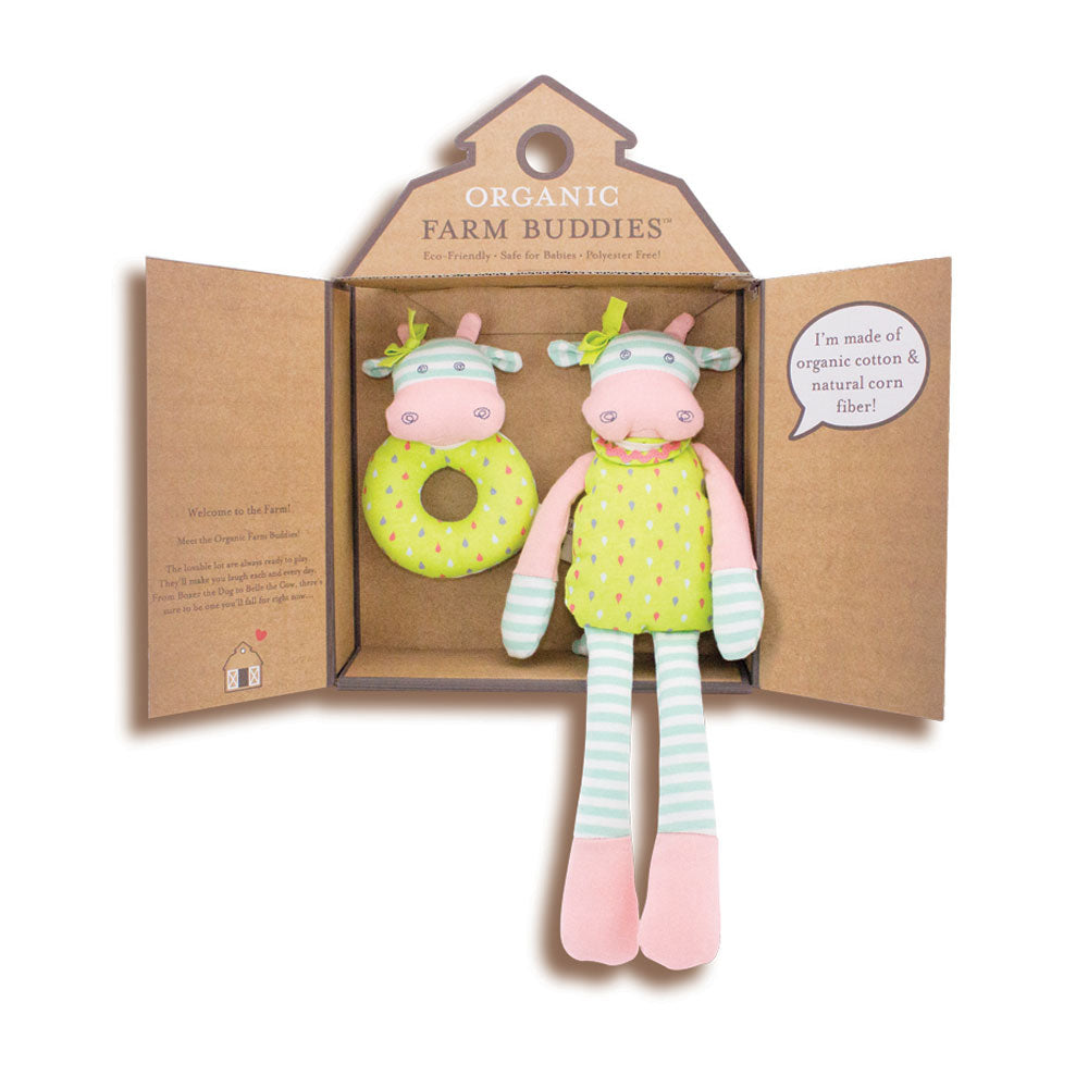 Belle the Cow Organic Farm Buddy Gift Set - Gifti | Gifts they will love