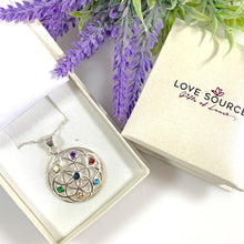 Load image into Gallery viewer, Chakra Geometric Pendant & Necklace with Crystals - 925 Silver - Gifti | Gifts they will love