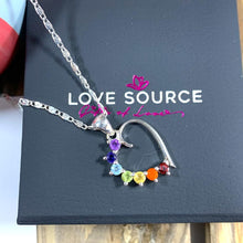 Load image into Gallery viewer, Chakra Heart Pendant with Necklace incl Gemstones - 925 Silver - Gifti | Gifts they will love