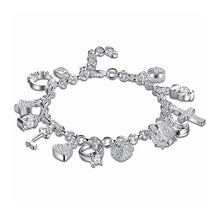 Load image into Gallery viewer, Charm Bracelet Silver - 13 Charms - Gifti | Gifts they will love